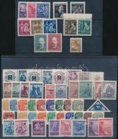 Böhmen und Mähren 1939-1944 51 klf bélyeg + 4 klf szelvényes 2 stecklapon