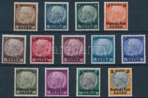 Generalgouvernement Keleti posta 1939 Hindenburg sor Mi 1-13