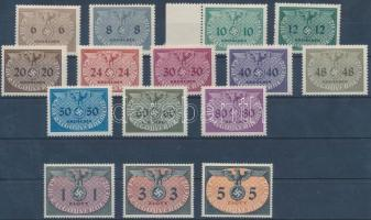 Generalgouvernement 1940 Hivatalos sor Mi 1-15