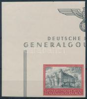 Generalgouvernement 1944 5. Évforduló vágott ívsarki bélyeg Mi 125 U