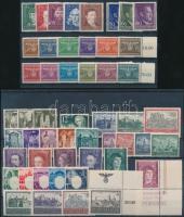 Generalgouvernement 1940-1944 52 klf bélyeg, közte teljes sorok 2 stecklapon