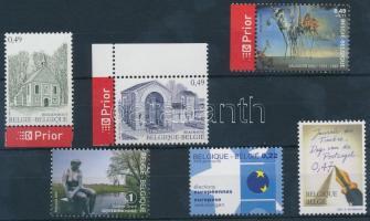 2002-2008 6 stamps, 2002-2008 6 klf önálló bélyeg, közte ívszéli értékek és 1 db ívsarki