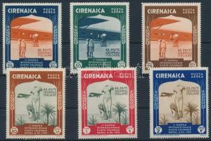 1934 2. Nemzetközi Gyarmati kiállítás, Nápoly légi értékek Mi 121-126