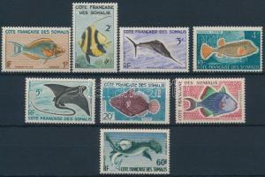 Halak 8 klf érték Fishes 8 diff stamps