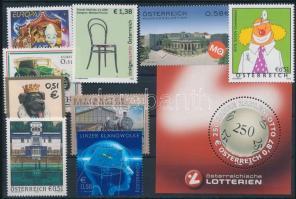 9 stamps + 1 block, 9 klf bélyeg + 1 db blokk