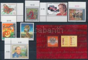 7 stamps + 1 block, 7 klf bélyeg + 1db blokk