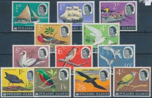 Definitive set without closing stamp, Forgalmi sor záróérték nélkül