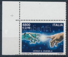 1999 Belépés a 2000-es évekbe ívsarki bélyeg Mi 2666