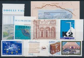 2004 8 db klf bélyeg, közte több ívszéli érték + blokk