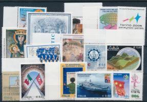 2006 17 db klf bélyeg, közte több ívszéli érték