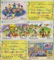 2003 Gyermeknap sor hatostömbben bélyegfüzet borítóban Mi 1225 C-1228 C