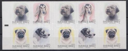 Dogs self-adhesive stampbooklet, Kutya öntapadós bélyegfüzet