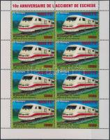 Railway overprinted mini sheet, Vasút felülnyomott kisív