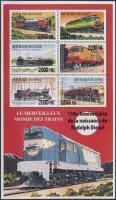 Railway overprinted mini sheet + block set, Vasút felülnyomott kisív + blokksor