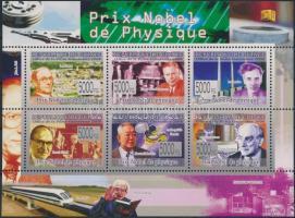 Nobel Laureates mini sheet, Nobel díjasok kisív