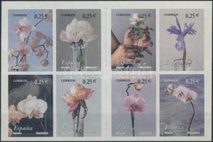 Flowers stamp booklet, Virágok bélyegfüzet