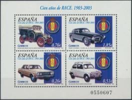 Spanish Royal Automobile Club block, 100 éves a Spanyol Királyi Autóklub blokk