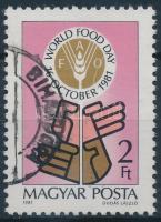 1981 Élelmezési világnap O keresztül futó fehér vonal