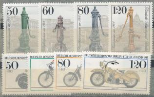 1983 Régi kutak sor + Ifjúságért: Régi motorok sor Mi 689-692 + 694-697 (Mi EUR 16,-)
