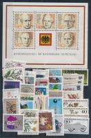 1982 blokk Mi 18 + 1983 Szinte a teljes évfolyam: 33 klf bélyeg (Mi EUR 61,40)