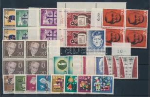 1957-1964 6 klf négyestömb + 16 db bélyeg