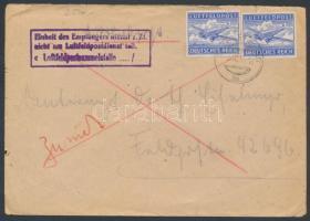 1944 Tábori légiposta levél (hajtóka hiányzik)