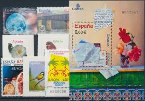 2003-2009 7 diff stamps + 1 block, 2003-2009 7 klf bélyeg + 1 db blokk