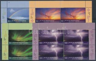 2009 Égi időjárási jelenségek sor ívsarki 4-es tömbökben Mi 2707-2710