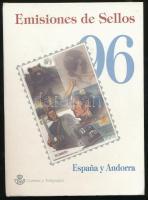 Spanyolország, Andorra Spanyol Posta 1996 Évkönyv, benne az elsőnapi alkalmi bélyegzések is