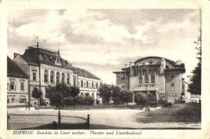 Sopron, színház, Liszt szobor