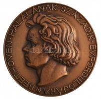 Reményi József (1887-1977) 1927. Beethoven halálának zzázadik évfordulójára Br emlékérem. BEETHOVEN HALÁLÁNAK SZÁZADIK ÉVFORDULÓJÁRA / A M KIR VALLÁS ÉS KÖZOKTATÁSÜGYI MINISZTER HÓDOLATTAL BEETHOVEN EMLÉKÉNEK (61mm) T:2  Hungary 1927. 100th Anniversary of the Death of Beethoven Br medallion. Sign.: József Reményi (61mm) C:XF  HP 4423.