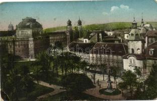 Plzen, Pilsen; Smetana Promenade / square, church (EK)