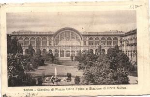 Torino, Giardino di Piazza Carlo Felice e Stazione di Porta Nuova / garden, railway station
