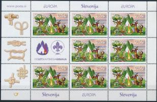 Europa CEPT, Scout minisheet, Europa CEPT, Cserkész kisív