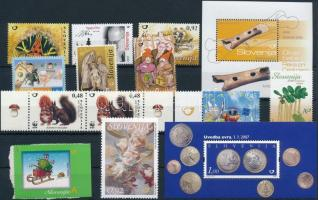 2006-2007 12 stamps + 2 blocks, ;2006-2007 12 db bélyeg + 2 db blokk