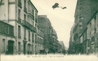 Paris, Rue de Vaugirard / street, aeroplane, automobile