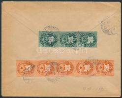 1946 (13.díjszabás) Távolsági céges levél Lovasfutás 4eP ötöscsíkkal + 160eP hármascsíkkal bérmentesítve