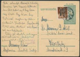 1946 (14.díjszabás)Távolsági levelezőlap Betűs Távolsági lev.-lap./4f bérmentesítéssel