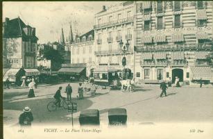 Vichy, Place Victor Hugo, Hotel d'Orleans & Splendid Hotel, Credit Lyonnais, Tabac / square, hotel bank, shops