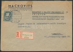 Inflation cover, (8.díjszabás) Ajánlott helyi céges levél Lovasfutár 50eP bérmentesítéssel