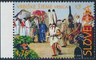 Traditional costumes margin stamp, Hagyományos viseletek ívszéli bélyeg