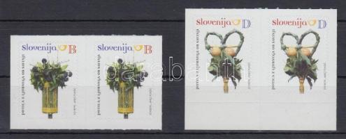 Tradition self-adhesive stamp set in apirs, Hagyomány öntapadós bélyeg sor párokban
