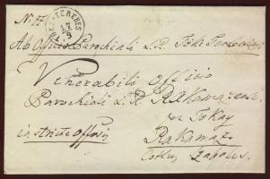 1868 Ex offo levél / cover TŐKE-TEREBES - TOKAY - RAKAMAZ