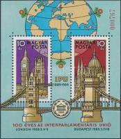 Inter-Parliamentary Union (II.) gift block present of the post, Interparlamentáris Unió (II.) ajándék blokk