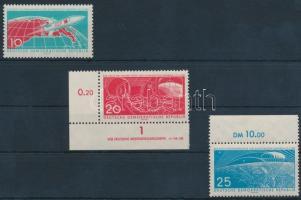 1961 Űrkutatás sor Mi 822-824