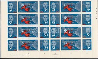 1965 Űrkutatás 8 db hármascsík ívsarki nyolcastömbben Mi 1138-1140