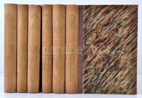 C. Birnbaum. - Göttger, C - Gayer, K. u.a.: Das neue Buch der Erfindungen, Gewerbe und Industrien. Rundschau auf allen Gebieten der gewerblichen Arbeit. 1-6. Hatodik, javított kiadás. Leipzig-Berlin, 1872-1873-1874, Otto Spamer.  Díszes, aranyozott gerincű félvászon borító, 520+510+446+520+488+540 p.  A könyvben számos illusztrációval,képpel. A borítója kopott, a gerince fakó. Az védőlapon, és a címlapon ex-libris beírással.A lapok foltosak. Az 1. és 5. kötet hátsó védőlapján és kötéstábláján firkával. A 2. kötet kötése sérült, viseltes. 1. és 5. kötetben aláhúzások és jegyzetek.  Német nyelvű ipartörténeti munka, a 1870-es évekből Otto Spamer kiadásában. / Industrial history in German language from the years of 1870. It is a beautiful cloth binding book with a lot of illustrations, and pictures. The second books binding is damaged. In the first and the fifth book some writings, and scribbles. The book covers and rootlets are a little bit tattered, and some pages are spotty, but the alltogether in good condition.