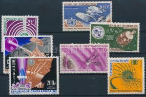 1963-1966 Űrkutatás 1 sor + 5 klf önálló érték, 1963-1966  Space research set + 5 diff stamps