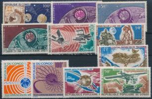 Space Research 1963-1968 2 sets + 5 values, Űrkutatás motívum 1963-1968 2 klf sor  + 5 klf önálló érték