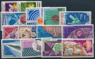 Space Research 1963-1967 3 sets + 5 stamps, Űrkutatás motívum 1963-1967 3 klf sor + 5 klf önálló érték